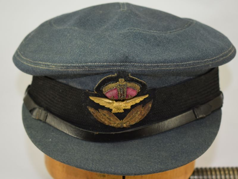 Excellent Early Post WW2 WAAF WRAF Female Officers Cap with ID