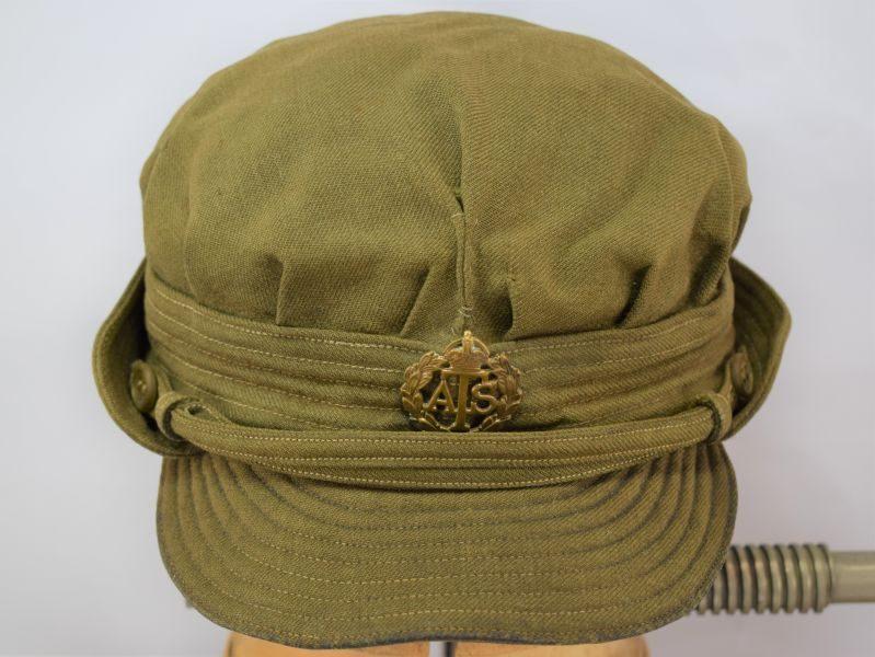 Original WW2 ATS ORs Peaked Cap & Badge