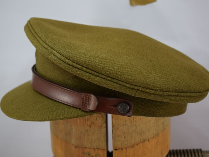 14 Original WW2 British Army Officers Service Cap By Bates Hatters.