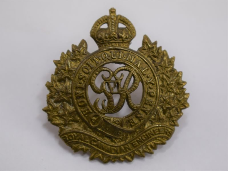Original WW2 Royal Canadian Engineers Cap Badge