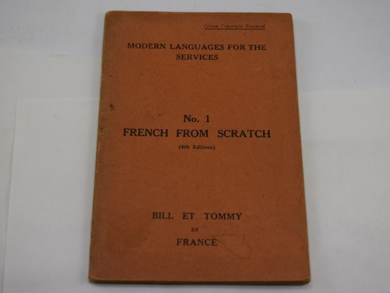 British Army Modern Languages For The Services Booklet French From Scratch 1943