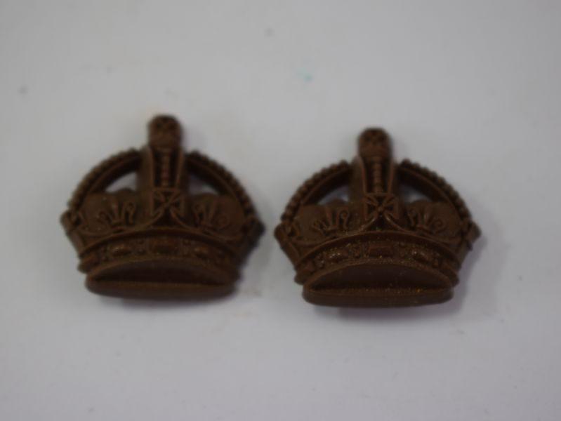Original WW2 British Army Officers Rank Crowns in Bakelite