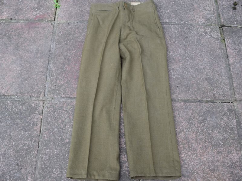Original Early WW2 US Army M-1937 Wool Serge Trousers Mustard