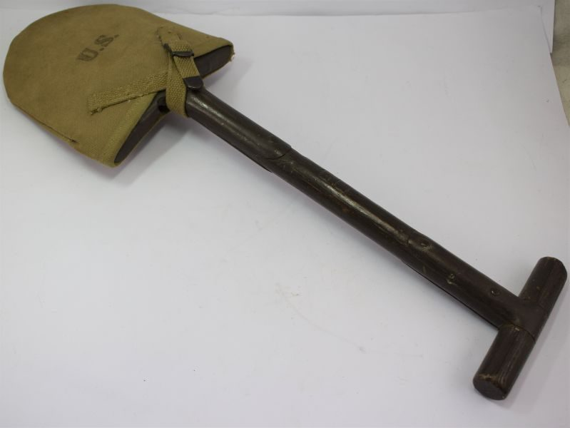 Original WW2 US Army Issue T Handle Shovel & Original Cover