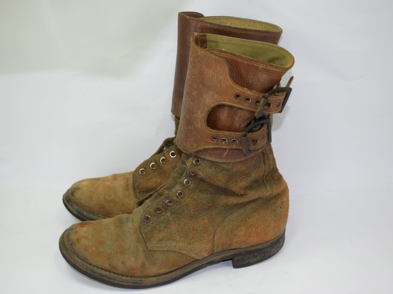 Excellent Original WW2 US Army M43 Double Buckle Boots Dated 1944