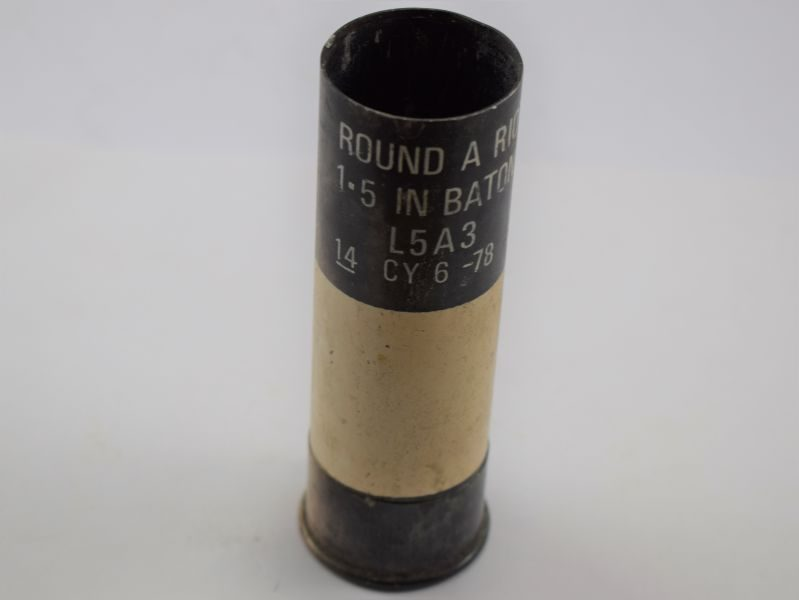 27 Inert Original British Military Round A Riot 1.5in Baton MR L5A3 Dated 1978
