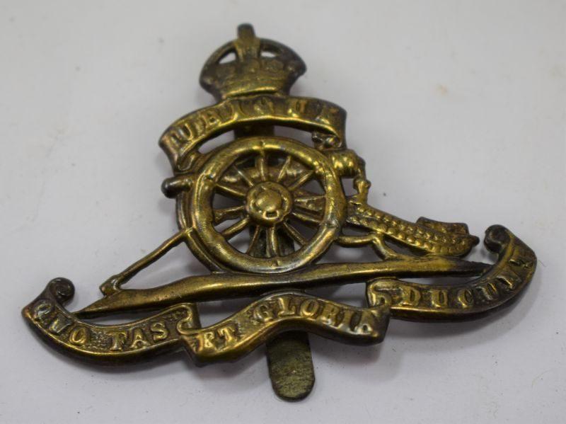 WW1 WW2 Royal Artillery Brass Cap Badge
