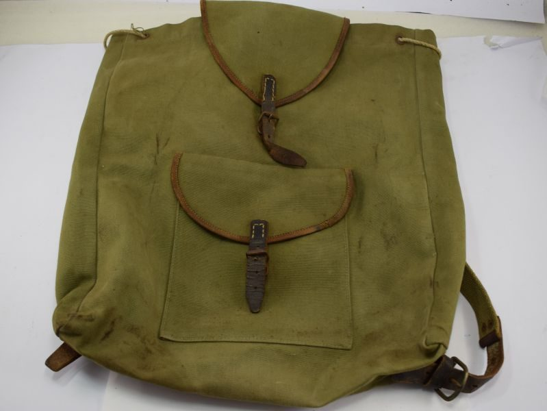 Unusual Post WW2 Small Knapsack Made From WW2 German & US Army Items