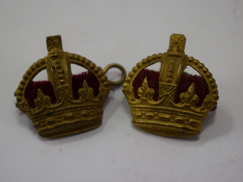 WW1 WW2 British Army Officers Rank Crowns
