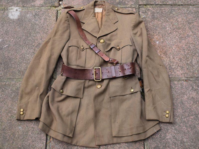 Original WW2 South African Officers Service Dress Jacket & Sam Brown