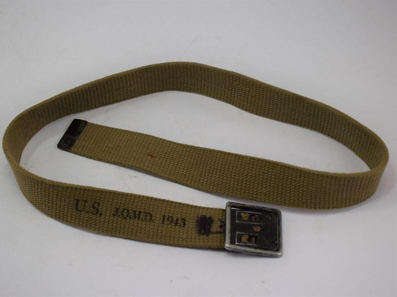 Original WW2 US Army Issue Waist belt & Buckle, Dated 1943