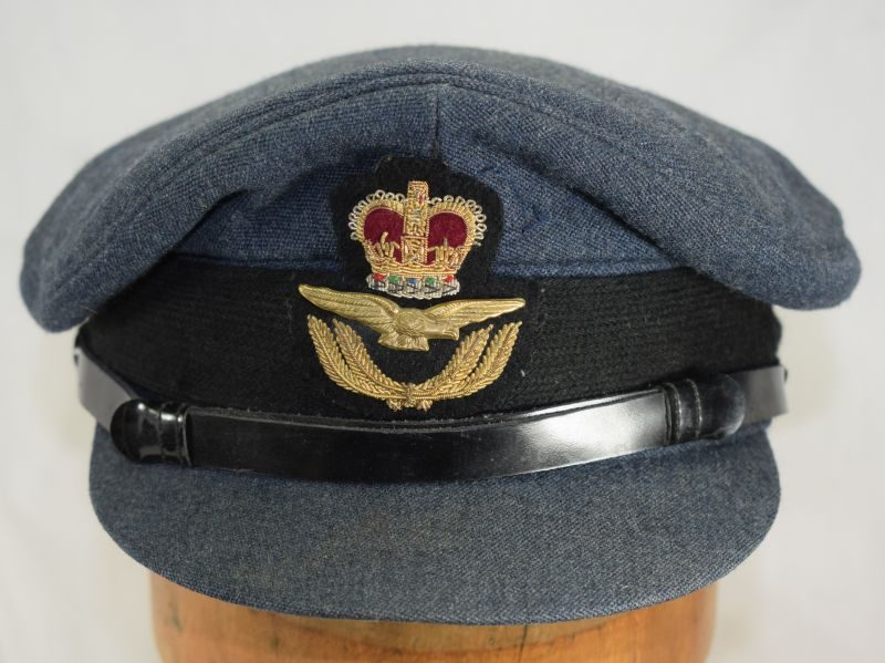 10 Excellent Post WW2 RAF Officers Peaked Cap Size 7 ¼