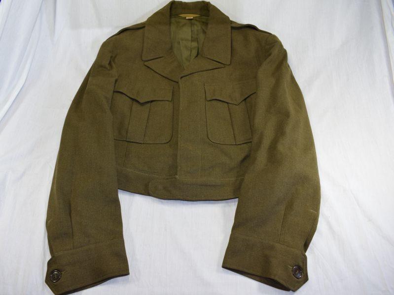 Original WW2 US Army Issue Ike Jacket Field Wool OD Dated 1944