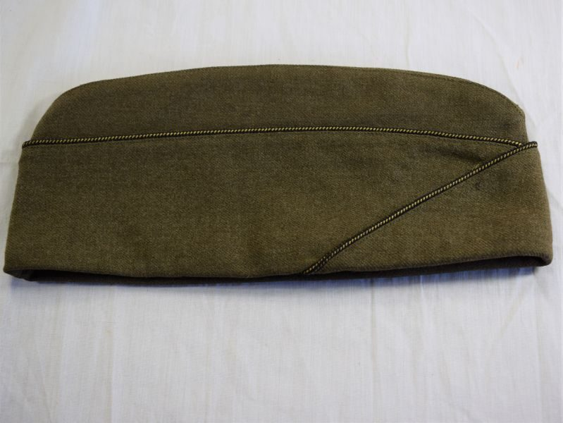 Unusual Late WW2 US Army Officers ETO Marked Garrison Cap Made In France