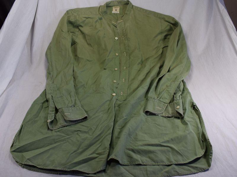 WW2 Era British Army Officers Lightweight Cotton Shirt By Van Heusen