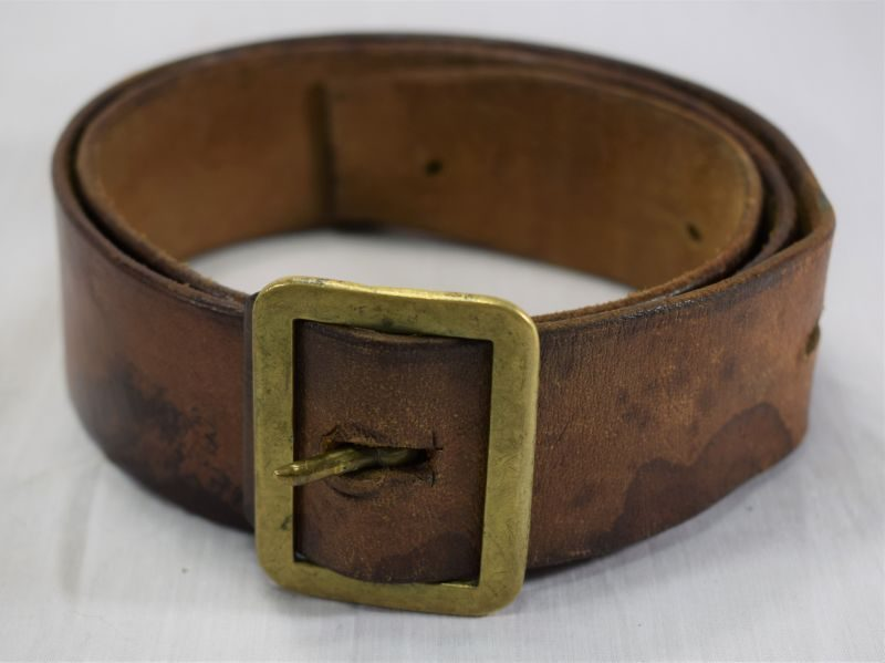 31 WW2 Indian Made 1903 Pattern Leather Waist Belt Home Guard 1942