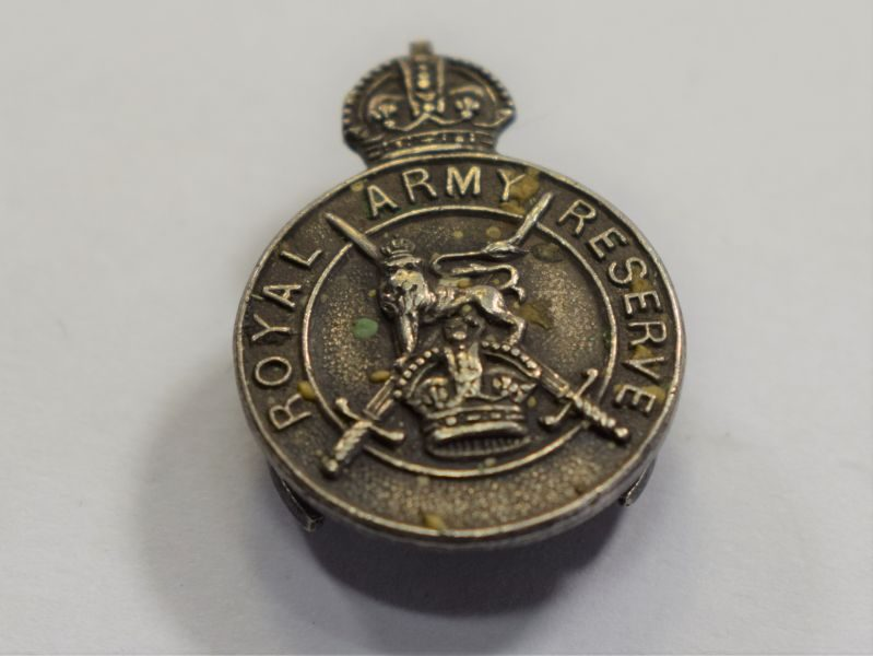 Silver Hallmarked Lapel Badge Royal Army Reserve