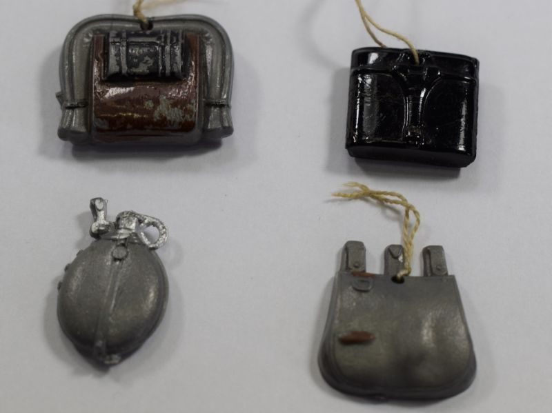 Original WW2 German Plastic Tinnies of Military Equipment