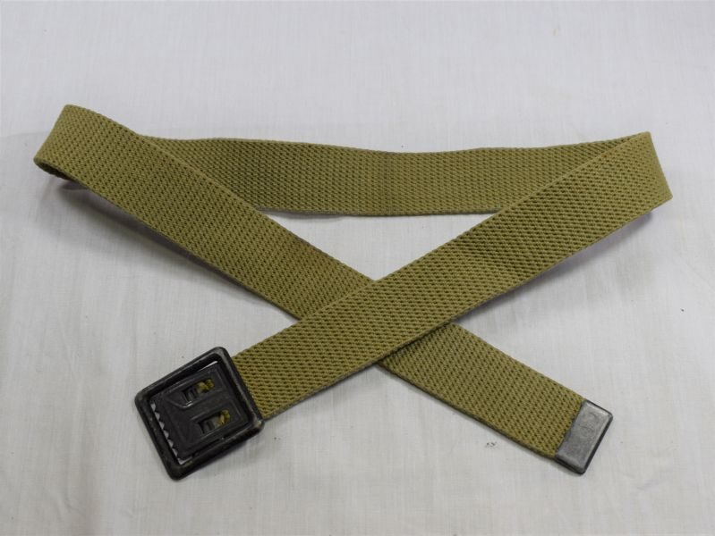 Original WW2 US Army Issue Webbing Trouser Belt Dated 1944