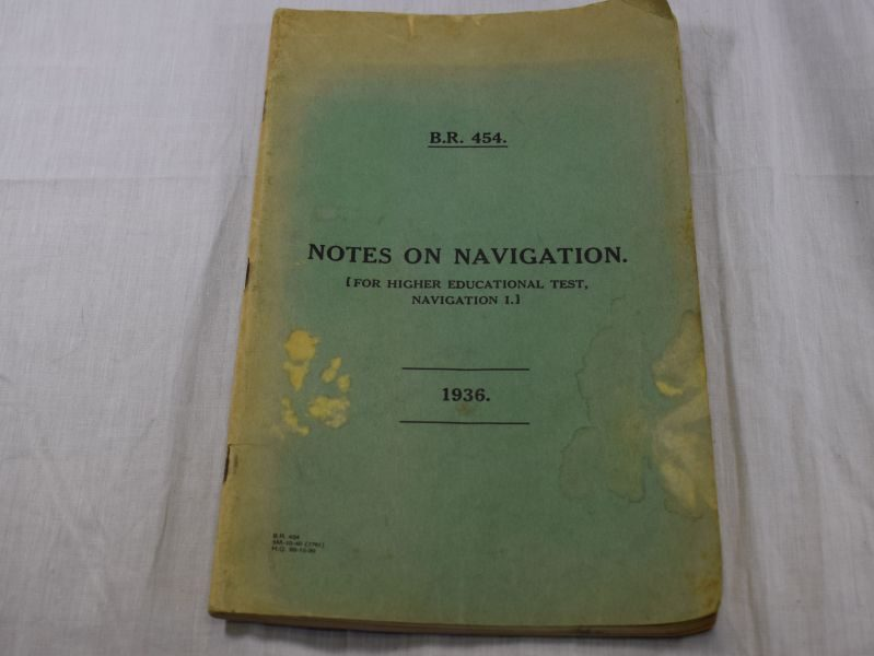 1930s WW2 Royal Canadian Navy Notes On Navigation Pamphlet 1937