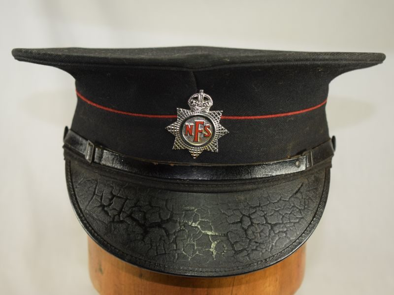 Excellent Original WW2 National Fire Service Peaked Cap Dated 1945