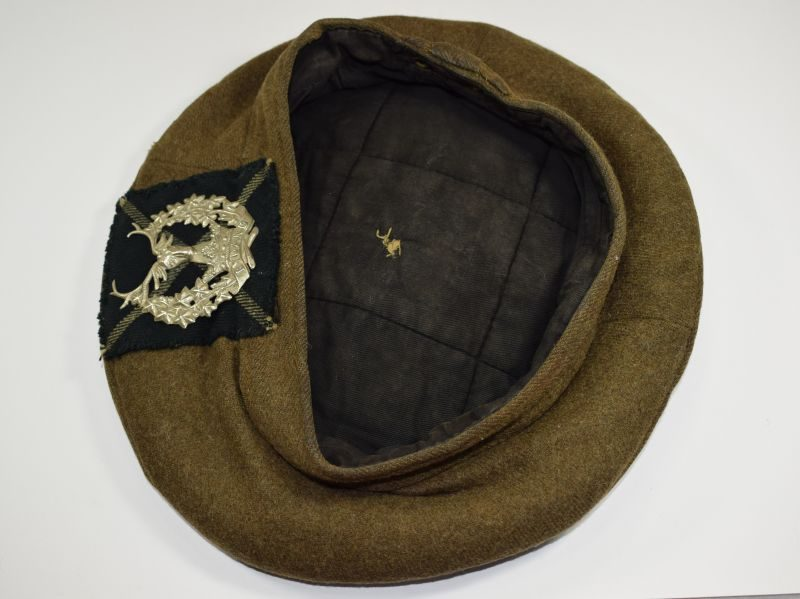 Original WW2 Scottish Tam-O-Shanter To the Gordon Highlanders. 1943