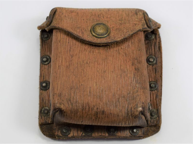 Good Original WW2 British 1939 Pat Leather Pistol Ammo Pouch Home Guard
