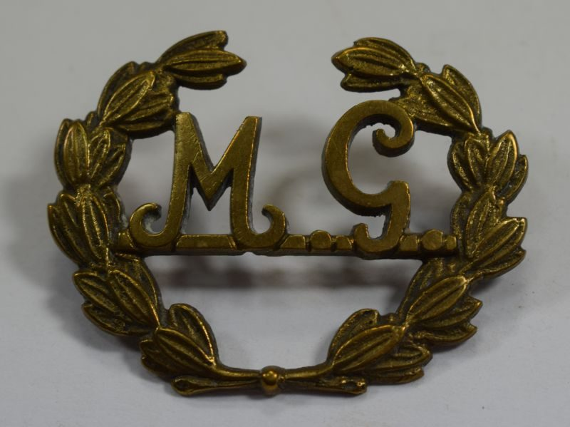 Original WW1 British Machine Gunners Brass Sleeve Badge