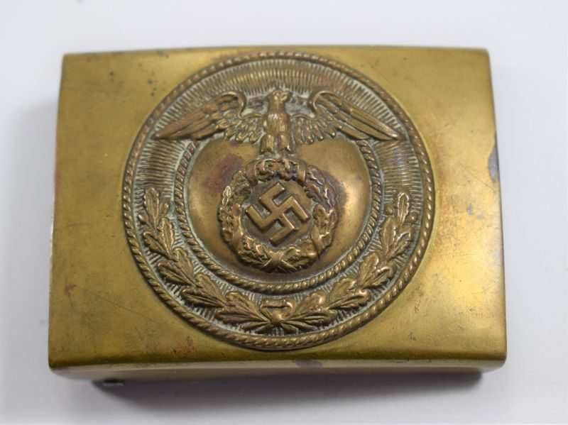 Original 1930s – WW2 German SA Mans 2 Part Brass Belt Buckle