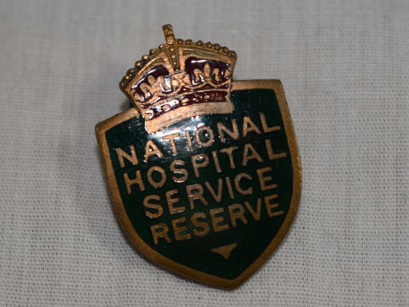 Cold War National Hospital Service Reserve Enamel Badge