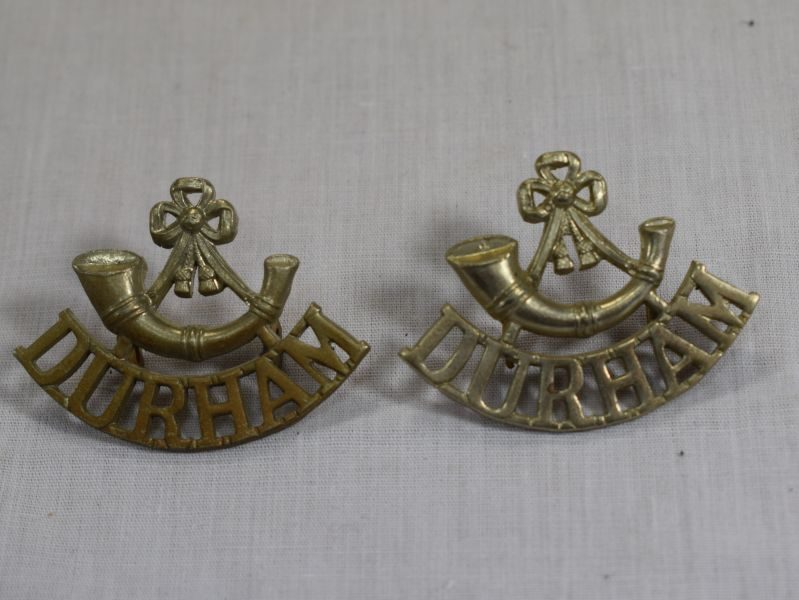 Original WW1 WW2 Shoulder Titles To Durham Light Infantry