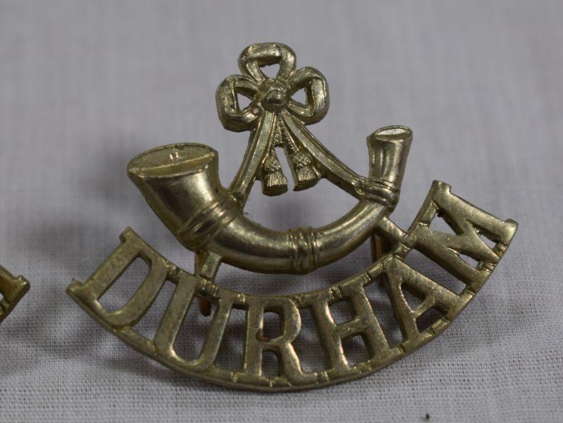 Original WW1 WW2 Shoulder Titles To Durham Light Infantry