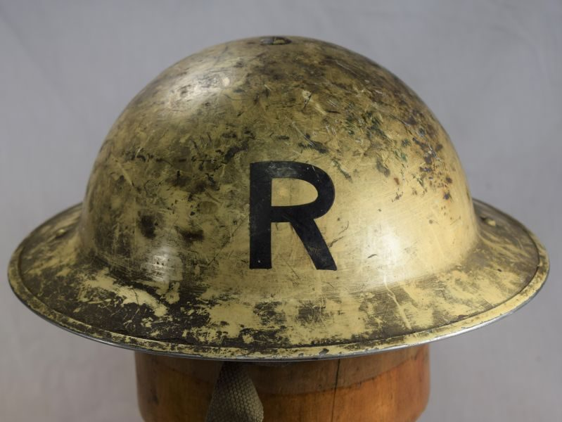 Excellent as Found WW2 British Senior Rescue Workers Steel Helmet