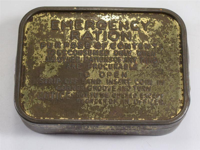 WW2 British Army Emergency Rations Tin. Empty