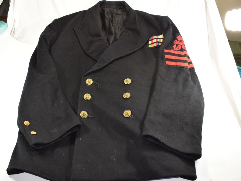 WW2 Royal Navy Petty Officers Jacket & 3 Years Good Conduct Stripes