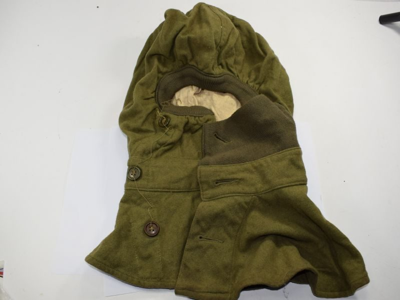 Unissued WW2 US Army Issue Anti-Gas Hood, Wool, Special 1942
