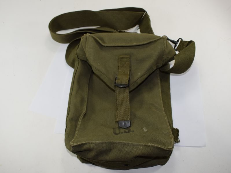 WW2 US Army Issue Spare Ammo Bag Dated 1945