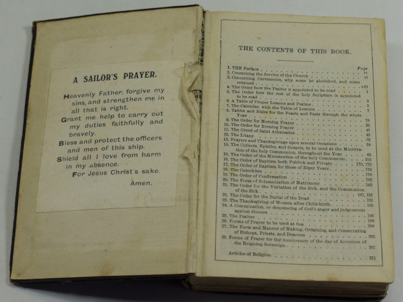 WW1 Royal Navy Issue Common Prayer & Hymn Book