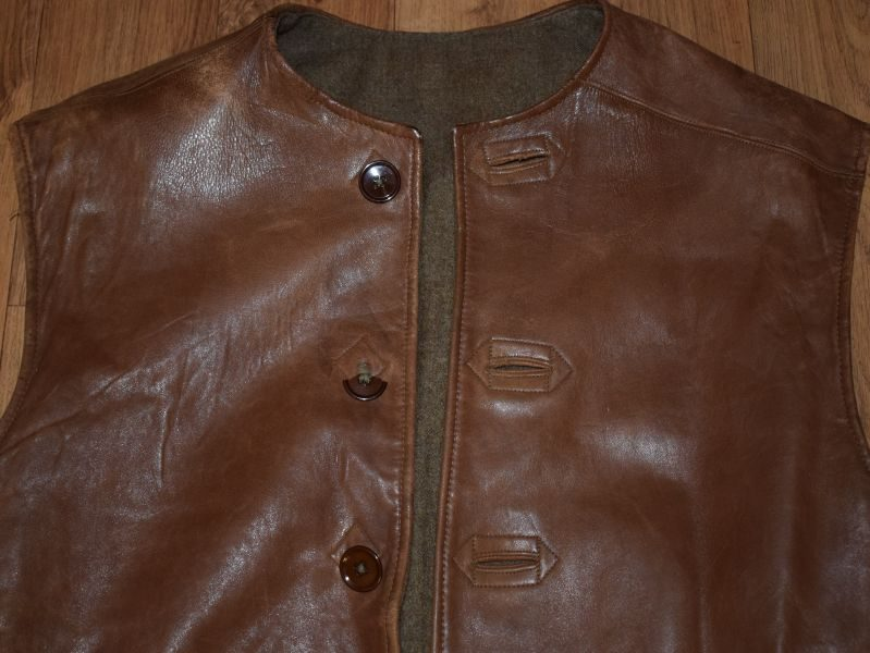 Ww2 British Army Issue Leather Jerkin In Excellent Order