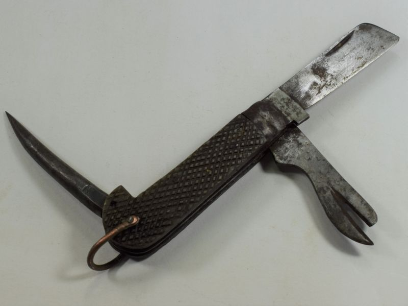 4 Early Ww2 Indian Made British Army Jack Knife Dated 1940
