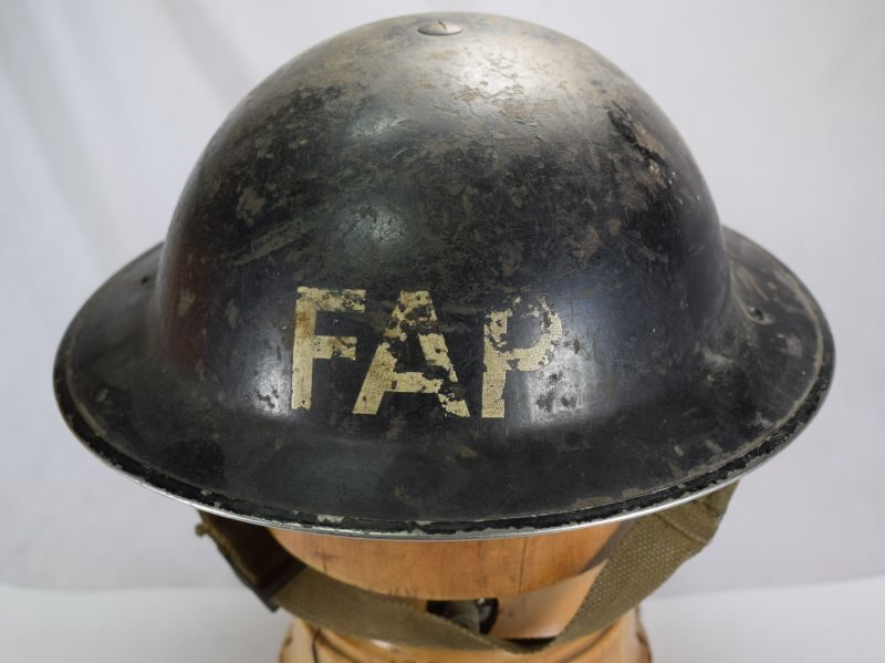 Untouched WW2 British FAP Marked First Aid Party Helmet