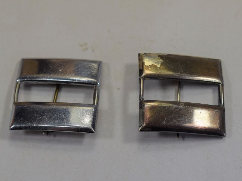 WW2 Brit Made US Army Captains Rank Bars in Hallmarked Silver