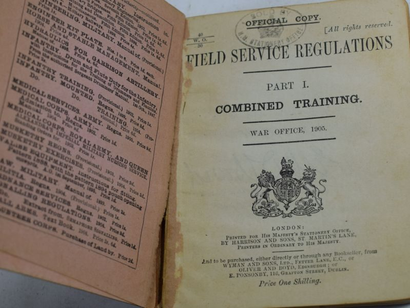 ww1 british army field service regulations combined training manual rh worldwarwonders co uk army regulation vs field manual Army Technical Manuals
