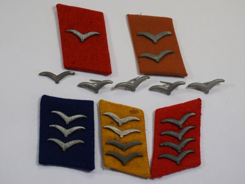 Ww2 German Luftwaffe Collar Tabs Amp Rank Badges World War