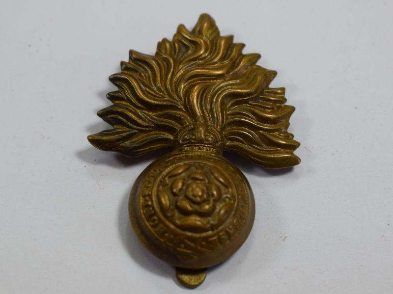 Original WW1 WW2 Royal Fusiliers Brass Cap Badge