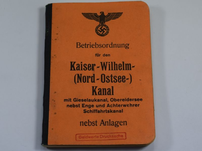 WW2 German Handbook Operating Rules for the Kaiser-Wilhelm Canal
