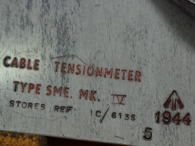 WW2 RAF Aircraft Cable Tensionmeter Type SME MK IV 1944