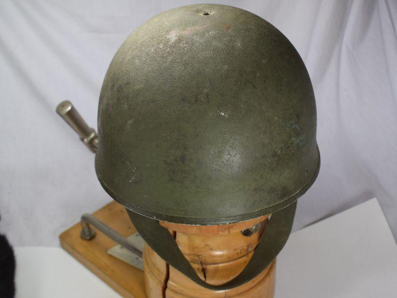 Post Ww2 British Army Tank Mans Steel Helmet Dated 1972