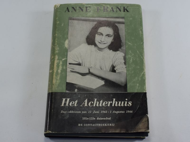 Original 1957 Dated Dutch Version of Anne Franks Diary Anne Frank Het Achterhuis
