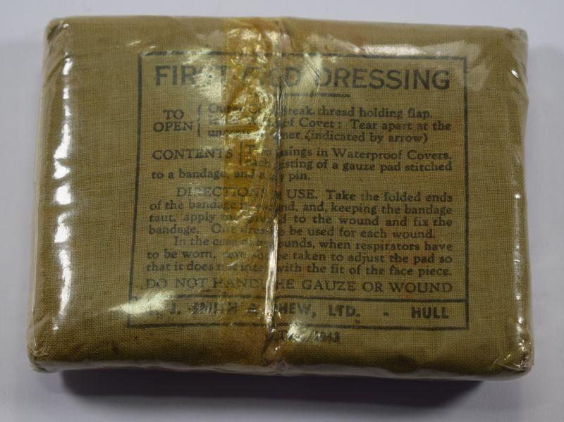 Good Unissued WW2 British Army First Field Dressing 1943